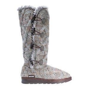 MUK LUKS Women's Felicity Knitted Mid Calf Boot